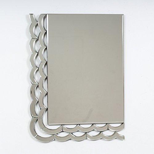 "Quality Glass Glass And MDF Decorative Wall Mirror (19""x25"", Silver, Asymmetric Shape)"