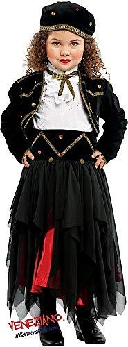 Fancy Me Italienische Herstellung Deluxe Baby &ältere Mädchen Zigeuner Wahrsagerin Piraten Halloween Karneval Kostüm Kleid Outfit 0-10 Jahre - 4 Years