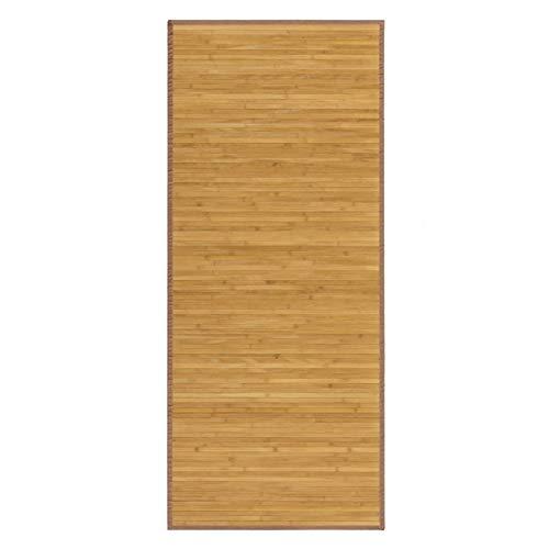 Alfombra Pasillera, de Color Madera Natural, de Bambú Natural 75 X 175 cm, Natur 75x175 -Hogar y Más...