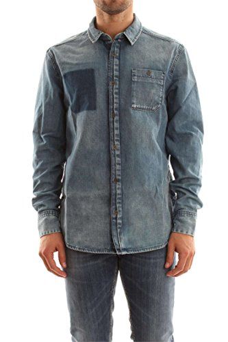 Calvin Klein Jeans West Shirt-Shade Blue Chemise Casual Homme