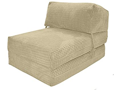 JAZZ CHAIRBED - CREAM DA VINCI Deluxe Single Chair Bed futon - cheap UK light store.