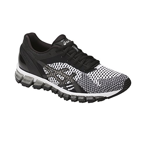 Asics Gel-Quantum 360 Knit, Chaussures de Running Femme Multicolore (Black/white/silver)