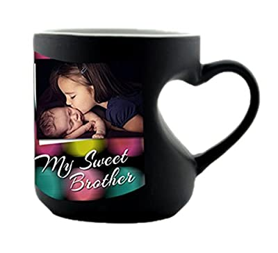 Photuprint Personalized / Customised Color Changing Magic Photo Mug With Your Photo And Message For Birthday Gift, For Friends & Girlfriend, Personalised Gifts, Gift Item, Anniversary Gifts(Black Color)