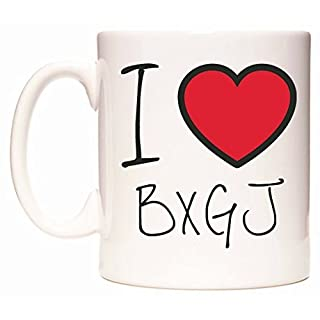 I Love BXGJ Becher von WeDoMugs
