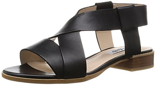 Clarks Bliss Meadow, Damen Slingback Sandalen, Schwarz (Black Leather), 39.5 EU (6 Damen UK)