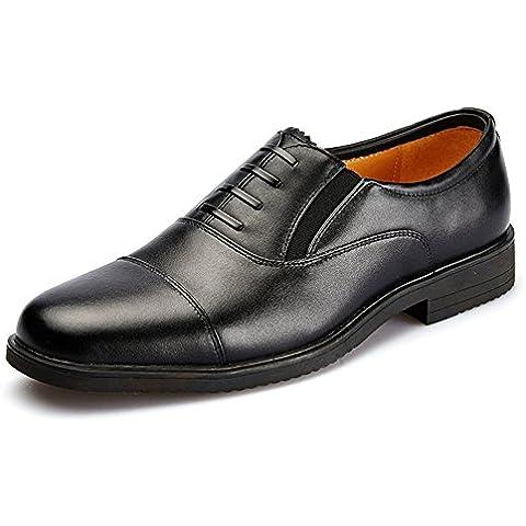 Tres capitán zapatos conjunta militar oficial/zapatos de cordones de cuero ocasionales no comerciales/Zapatos del
