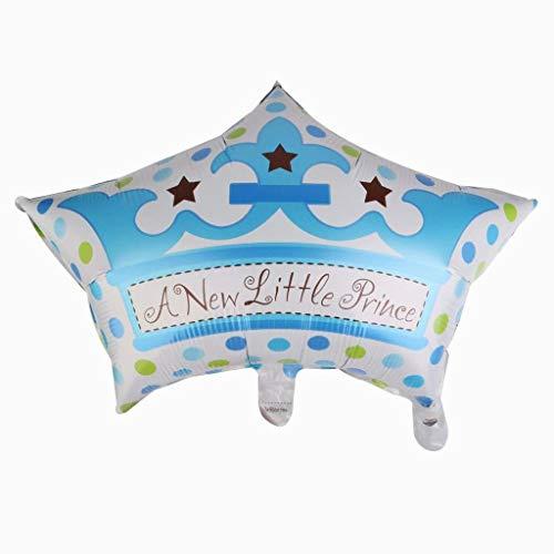 Ouken Sie einen neuen kleinen Prinzen Ballon Baby-Dusche Taufe Party Dekoration blau/pink (blau)
