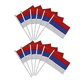 12st Handbewegung Russische Fahnen