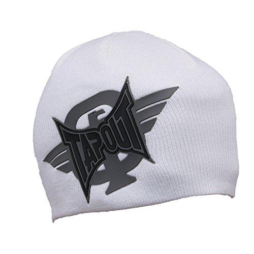 Tapout Strickmütze Winter Kappe Mütze Herren Beanie (Weiß)