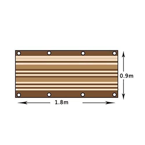 Shading net fashion capital rete di parabrezza per balcone piante grasse addensamento crittografia finestra sill ombra rete tetto sole camera busta isolamento rete ombra (dimensioni : 0.9 * 1.8m)