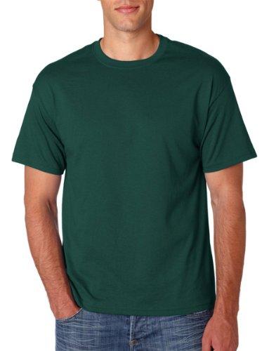 Hanes Mens ComfortBlend EcoSmart Crewneck T-Shirt, Sand Grün - Deep Forest