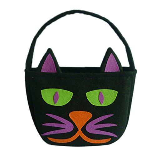 t taschen trick or treat taschen süßes goody süßigkeit geschenk taschen für kinder von yunhigh - schwarze katze (Halloween-korb)