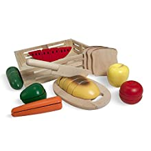 Melissa & Doug Cutting Food Wooden Play Food (Frustration-Free Packaging)