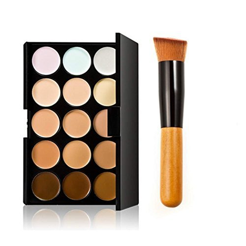Landsell 15 Color Professional Concealer Camouflage Foundation Makeup Palette Set With Brush by LIFECART