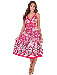 cae06e7118c6b Pistachio Ladies Vibrant Knee Length Summer Holiday Cotton Dress