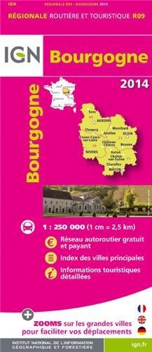 R09 BOURGOGNE 2014 1/250.000