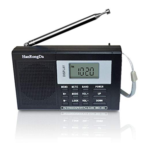 F-blue Tragbares Breitband Digital-Tuning Multiband-Stereo-Tuner MW/UKW/MW/SW-Radio Rec Steuerung Kurzwellenempfänger