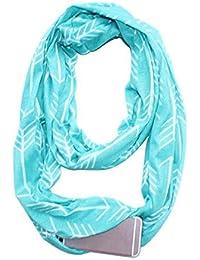 Alexsix Écharpe chaude pour femme écharpe de poche zippée dossard d hiver  multi-usages 70c7fa9ea0e