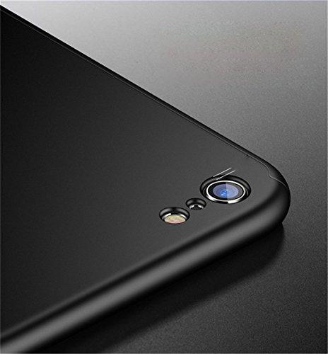 iPhone 7case 360gradi copertura 3in 1Slim Adamark antiurto Shell Full Body copertura protettiva + protezione dello schermo in vetro temperato per iPhone 7, Rose Gold Black
