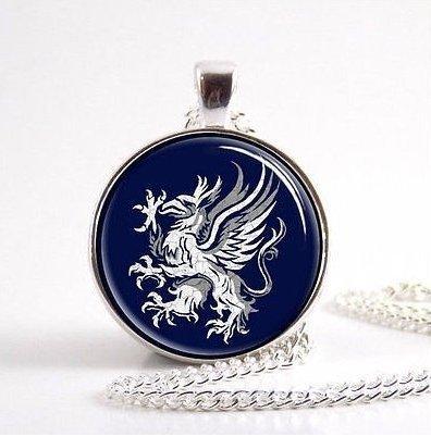 Dragon Age grau Wardens Halskette, Symbol, Logo, Wappen Schmuck, Glas rund (Dragon Mutter)