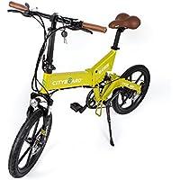 Cityboard Montaña Plegable E-Cies Bicicleta Eléctrica, Unisex Adulto, Amarillo, ...