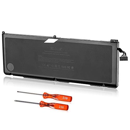 """SLODA Batteria di Ricambio Compatibile con MacBook PRO 17"""" A1383/A1297 (Solo per Inizio 2011 Fine 2011) MacBook PRO 8,3 A1383 Batteria di Ricambio (Li-Polymer 10.95V 8800mAh)"""