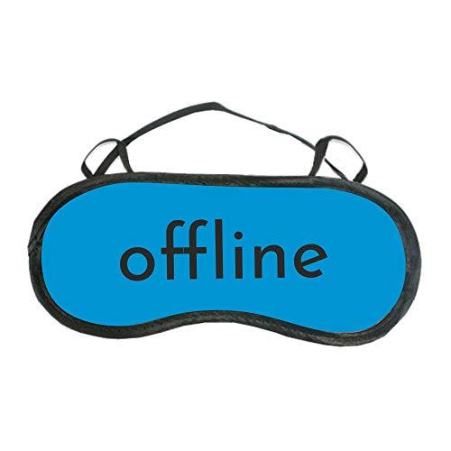"""Schlafmaske\""""offline\""""- blau & pink - für Frauen & Männer - Augenmaske mit Statement - Schlafbrille - Geschenkidee (blau)"""