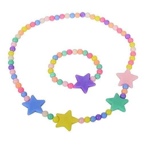 El Regalo's Girls' Necklace & Bracelet Jewelry Set For Kids & Baby Girls | Safe & Soft for Skin