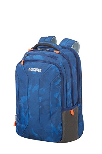 "American Tourister Urban Groove Backpack for 15.6"" Laptop - 0.5 KG Rucksack, 44 cm, 26.5 L, Camo Blue"