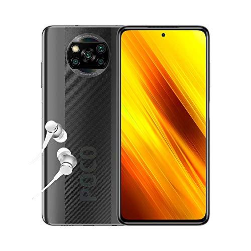 """Oferta de POCO X3 NFC - Smartphone 6.67"""" FHD+, 6 + 64GB, Snapdragon 732G, 64 MP con IA, Quad-cámara, 5160 mAh, color Gris sombra [Versión ES/PT]"""