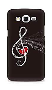 Amez designer printed 3d premium high quality back case cover for Samsung Galaxy Grand Max (Treble clef drawing chalk)