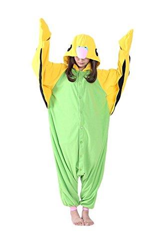 Honeystore Tier Onesie Jumpsuits Pyjama Overall Hausanzug Kigurumi Papagei Fastnachtskostüm Schlafanzug (Selbstgemachte Ideen Halloween Outfits Für)