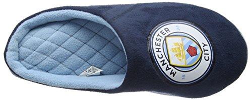 Bafiz Man City Game, Chaussons Mules Homme Bleu (Navy/Sky 906)