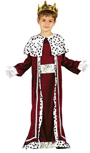 Fancy Me Jungen roten König Weiser Mann Herren Weihnachten Krippe Verkleidung Kostüm Outfit 3-12 Jahre - Rot, 3-4 - Krippe König Kostüm