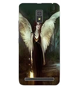 ColourCraft Angel Design Back Case Cover for LENOVO A6600