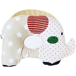 Kenmont éléphant Coussin de maintien anti-tête plate Oreiller memoire pour votre Bébé nouveau-né Cale tete bebe (coffee elephant)