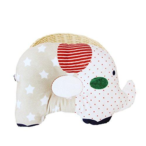 jysport Baby-Kopfkissen, Visco Kopf-Syndrom anti-pressure Support Kissen Baumwolle Soft Neugeborene Kissen, gelb