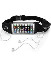 Running Belts IGadgitz Black Water Resistant Running Belt Waist Pack Fitness Sport Touchscreen Waistband For Huawei...