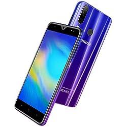 Smartphone Pas Cher 4G, Android 9.0, 5.5 pouces13MP 4800mAh Téléphone Mobile, 3GO RAM 32 GO ROM /128 Expansion Dual SIM Face ID Téléphone Portable Pas Cher sans Forfait WiFi GPS Bluetooth (Pourpre.)