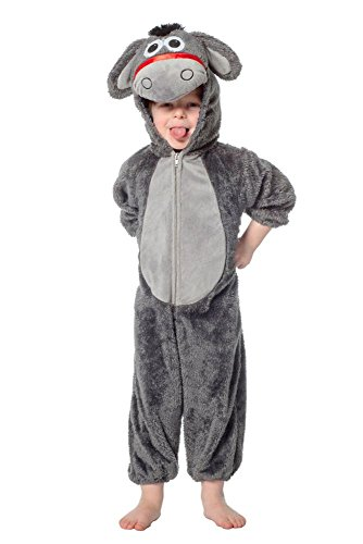 Wilbers Kinder Kostüm Esel Overall Verkleidung zu Karneval Fasching ()
