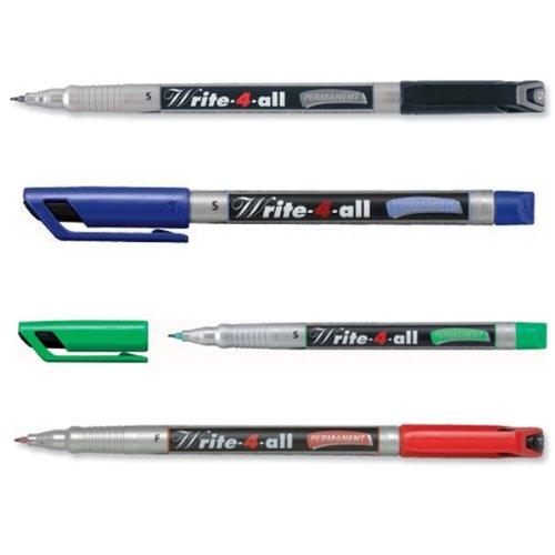 Stabilo Write-4-ALL-Pennarello, 166-) indelebile di spugna, 0,4 mm, tutti i colori: nero, blu, verde, rosso)