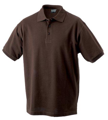 James Nicholson Herren Poloshirt Classic & Gr. XL, Braun - Braun (Braun)
