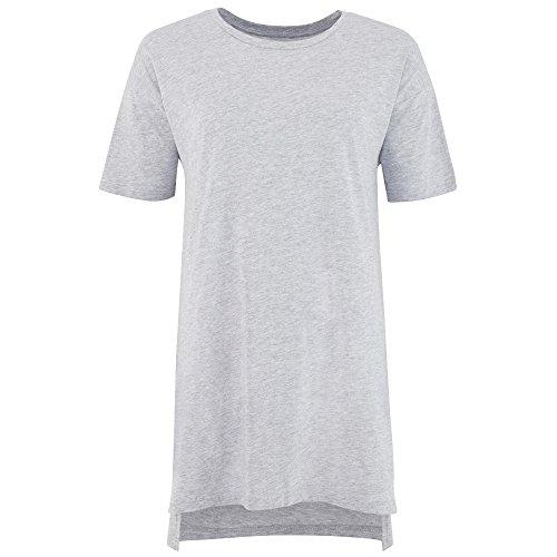 Comfy Co - Sleepy T - Maglia a manica corte oversize per pigiama - Donna Bianco