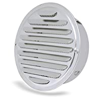 BESLIME Stainless Steel Louver Grille - Air Vent Grille Cover,Stainless Steel Louver Grille Cover Silver Soffit Vent with Little Holes for Kitchen Shoe Cabinet Wardrobe