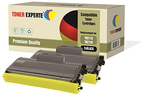 Kit 2 toner experte® tn2110 tn2120 toner compatibili per brother dcp-7030, dcp-7040, dcp-7045n, hl-2140, hl-2150, hl-2150n, hl-2170, hl-2170w, mfc-7320, mfc-7340, mfc-7345dn, mfc-7440n, mfc-7840w