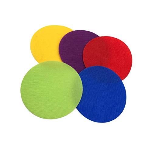 VORCOOL 30pcs Teppich Spot Marker für Lehrer Klassenzimmer (jeweils 6 Stück gelb, lila, rot, grün und blau)