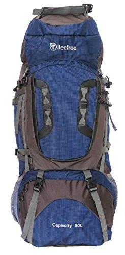 Imagen de bfree outdoor escalada senderismo  de viaje grande impermeable 75l  puede ampliar a 80l –80l, azul marino
