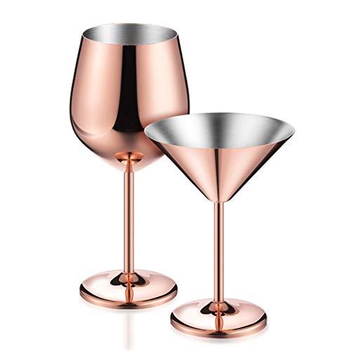 Ensemble de 2 Tasses à Vin Rouge en Acier Inoxydable - La Meilleure Tasse en Métal Sans Plomb - Gobelet à Long Manche Idéal Pour Cadeau D'anniversaire Ou de Mariage - Va Au Lave-vaisselle - Non Fragil