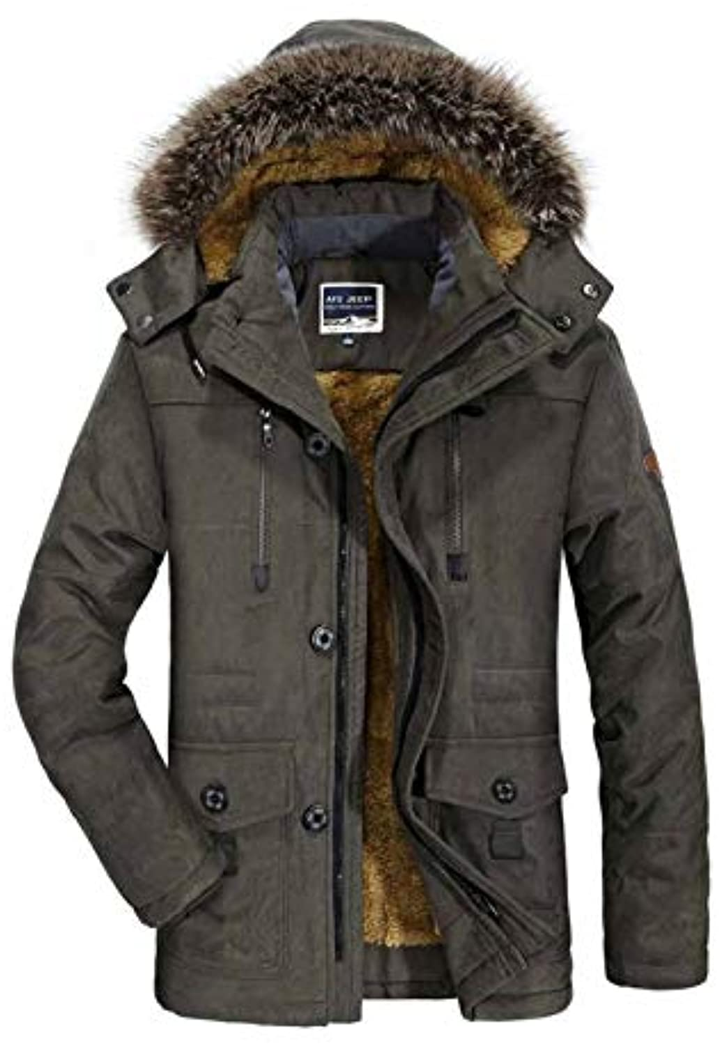 QIN-ER- Men's outerwear L-6XL Winter Down Jacket Uomo Parka Velluto Warm Windbreak Velluto Parka Spesso Loose Leisure, Cappotto... c2f52c