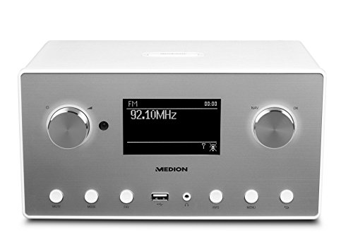 Medion P85080 MD 87523 WLAN Internet-Radio (DAB+, UKW, Bluetooth, USB, Spotify, AirPlay, Multiroom, AUX) weiß